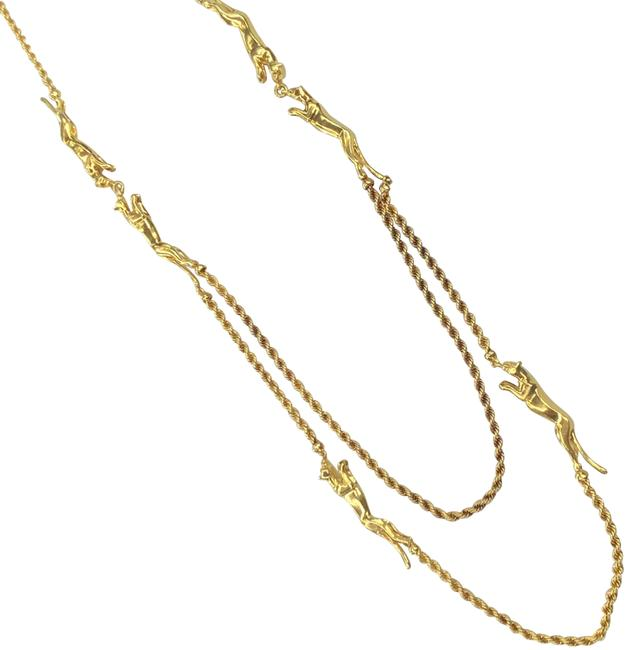 Item - Yellow Gold Vintage Panthere 6 Motif Rope Necklace