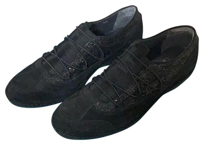 Item - Black Suede Leather Sneakers Size US 6.5 Regular (M, B)