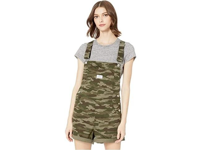 Item - Green XS Womens Camouflage Vintage Romper Relaxed Fit Nwt. Shorts Size 2 (XS, 26)