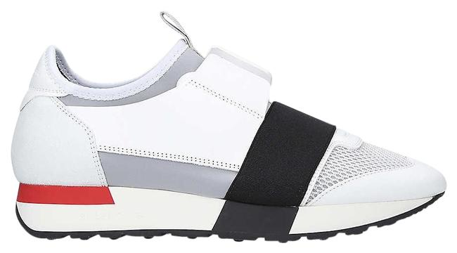 Balenciaga White Sg Race Runners Mesh Leather and Knitted Low-top Trainers Sneakers Size EU 35 (Approx. US 5) Regular (M, B) Balenciaga White Sg Race Runners Mesh Leather and Knitted Low-top Trainers Sneakers Size EU 35 (Approx. US 5) Regular (M, B) Image 1