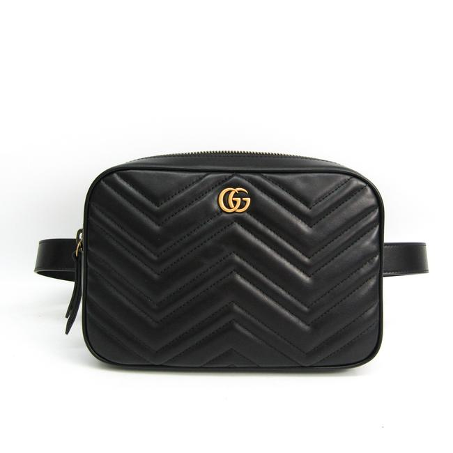 Item - Marmont Gg 523380 Women's Fanny Pack Black Leather Cross Body Bag