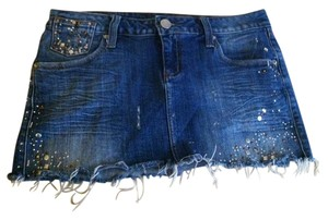 ZCo. Studded Denim Mini Skirt Blue