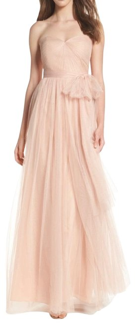 Item - Cameo Pink Anabelle Tulle Strapless Gown Long Formal Dress Size 10 (M)