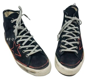 Golden Goose Sneakers Sports Red Star Black Athletic