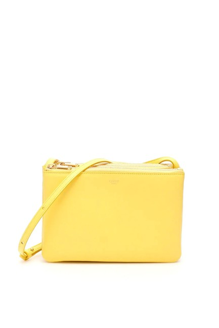 Item - Trio Cr Yellow Leather Shoulder Bag