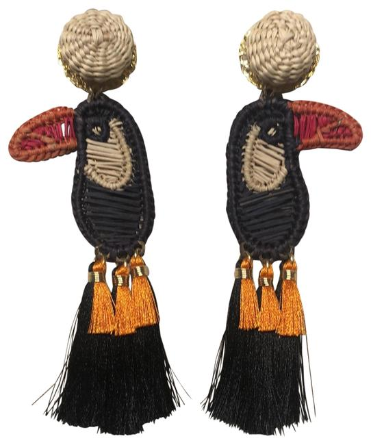 Item - Orange Red Black Tucan Earrings