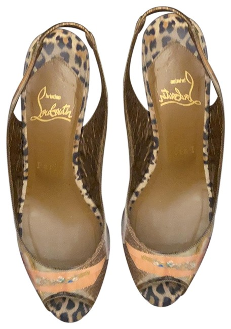 Item - Gold Animal Print Platforms Size US 7 Narrow (Aa, N)