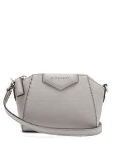Item - Mf Antigona Nano Gray Leather Cross Body Bag