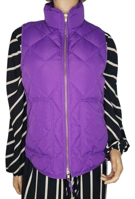 Item - Purple Excursion Down Fill Quilted Puffer Vest Size 4 (S)