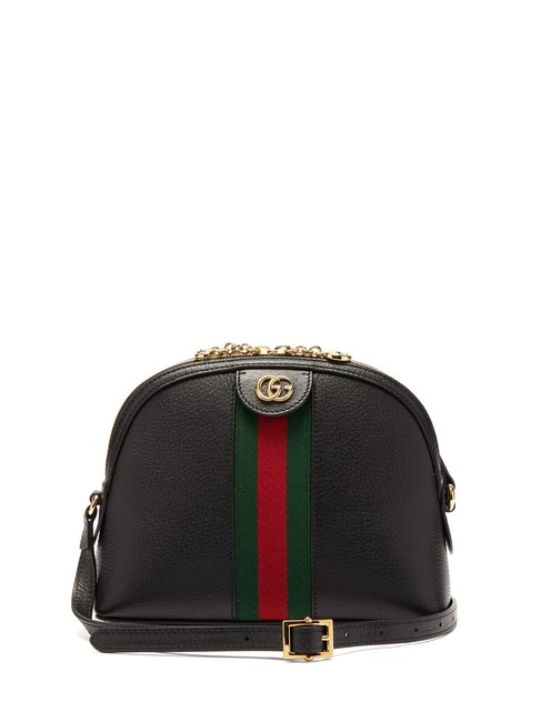 Item - Mf Gg Ophidia Black Leather Cross Body Bag