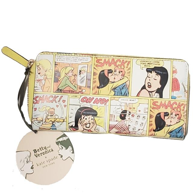 Item - Archie Comics Betty & Veronica Wallet Yellow Leather Wristlet