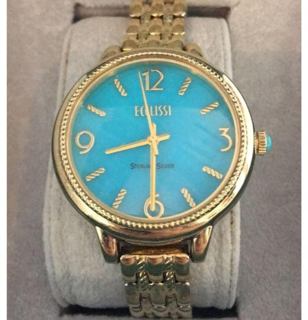Ecclissi Gold & Blue Sleeping Beauty Turquoise Face Watch Ecclissi Gold & Blue Sleeping Beauty Turquoise Face Watch Image 1