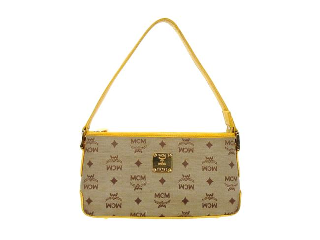 Item - Shoulder Bag Pochette Accessories Mini Brown and Yellow Visetos Canvas Leather Baguette