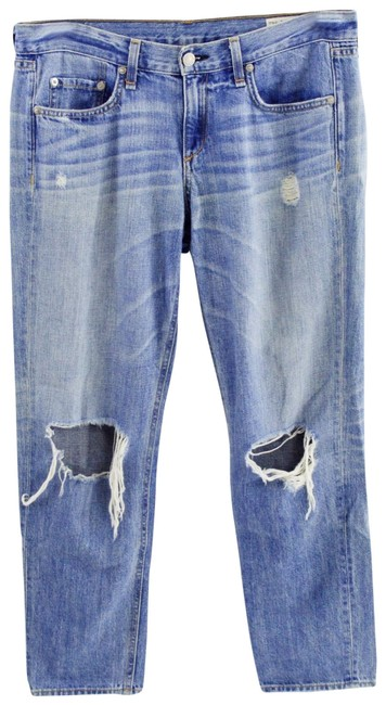 Item - Blue Distressed Bone/ #126-97 Boyfriend Cut Jeans Size 27 (4, S)