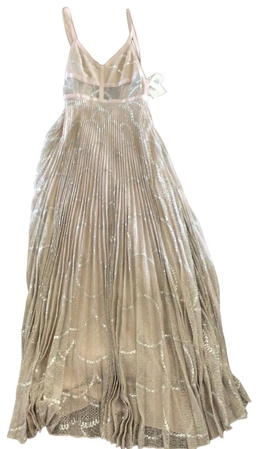 Item - Silver Isabella Pleated Lace Long Casual Maxi Dress Size 8 (M)