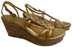 Kate Spade Gold Wedges