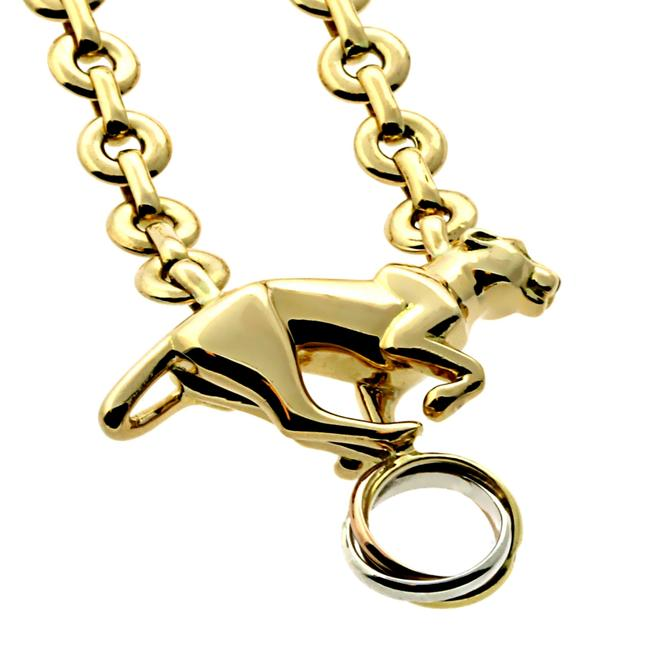 Cartier Yellow Gold Panthere Trinity Necklace Cartier Yellow Gold Panthere Trinity Necklace Image 1