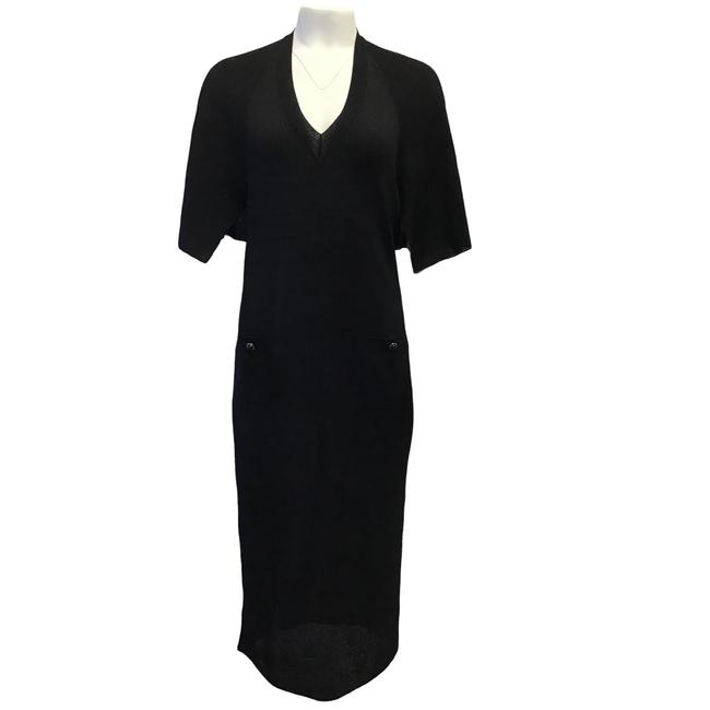Preload https://img-static.tradesy.com/item/27612329/chanel-black-2017-knit-with-capelet-mid-length-cocktail-dress-size-8-m-0-0-650-650.jpg