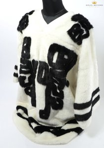 KTZ Faux Fur Black/White Unisex Sale T Shirt White/Black