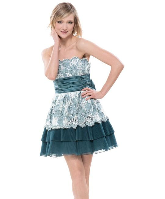 Preload https://img-static.tradesy.com/item/27612480/betsey-johnson-teal-cotton-tape-lace-strapless-tulle-tea-party-short-cocktail-dress-size-4-s-0-0-650-650.jpg