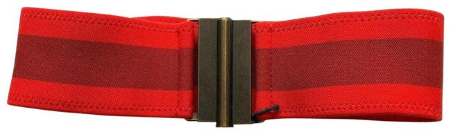 tomas maier Red Women's S Flag Cinched Elastic Belt tomas maier Red Women's S Flag Cinched Elastic Belt Image 1