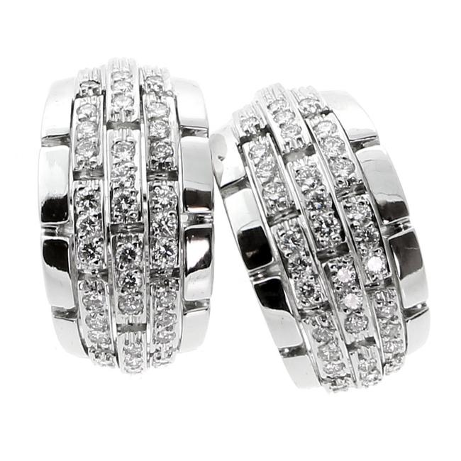 Cartier White Gold Panthere Oriane Diamond 80 Earrings Cartier White Gold Panthere Oriane Diamond 80 Earrings Image 1