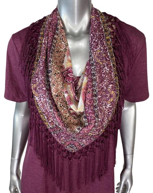 Item - Purple With Attached Fringe Scarf Tee Shirt Size 20 (Plus 1x)