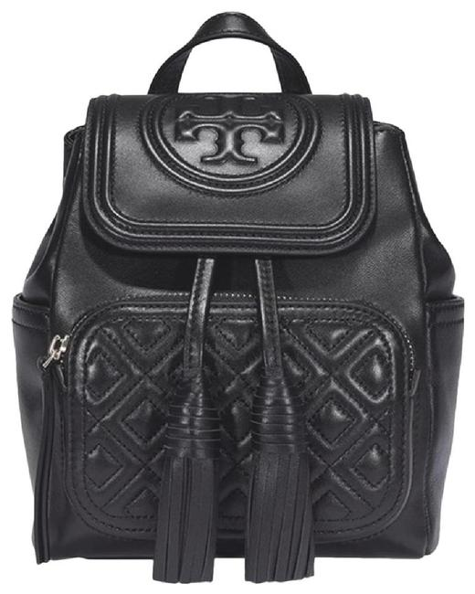 Tory Burch Fleming Mini Black Leather Backpack Tory Burch Fleming Mini Black Leather Backpack Image 1