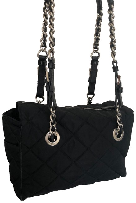 Prada Black Quilted Shoulder Bag Prada Black Quilted Shoulder Bag Image 1