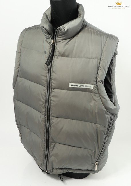 Versace Gray Jeans Couture Sleeveless Puffer Vest Versace Gray Jeans Couture Sleeveless Puffer Vest Image 1