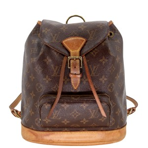 Louis Vuitton Montsouris Mm Monogram Leather Canvas Weekend Travel Bags Backpack