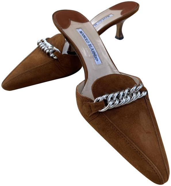 Manolo Blahnik Camel Pointed Toe Pumps Size US 7.5 Regular (M, B) Manolo Blahnik Camel Pointed Toe Pumps Size US 7.5 Regular (M, B) Image 1