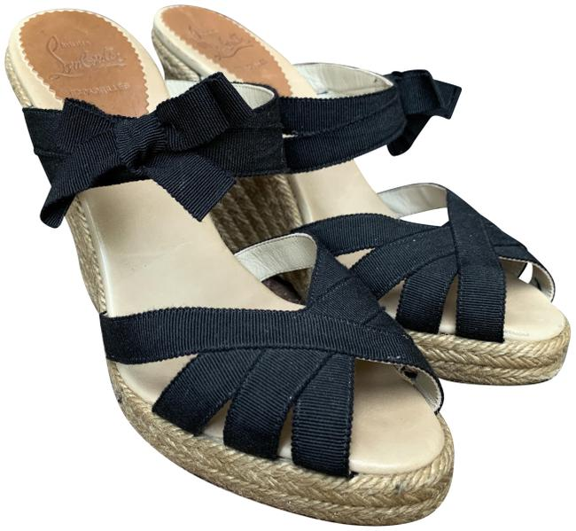 Christian Louboutin Black Espadrilles Sandals Size EU 38 (Approx. US 8) Regular (M, B) Christian Louboutin Black Espadrilles Sandals Size EU 38 (Approx. US 8) Regular (M, B) Image 1