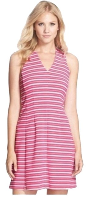 Preload https://img-static.tradesy.com/item/27613075/lilly-pulitzer-pink-white-stripe-ottoman-raised-ribbed-texture-short-cocktail-dress-size-2-xs-0-1-650-650.jpg