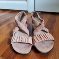 Eileen Fisher Pink Dylan Sandals Size US 7 Regular (M, B) Eileen Fisher Pink Dylan Sandals Size US 7 Regular (M, B) Image 6