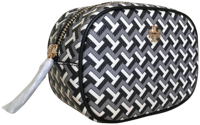 Item - Black White Grey Pouch T Tile Cosmetic Bag