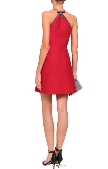 Item - Red Back Bow Embellished A-line Mid-length Cocktail Dress Size 4 (S)