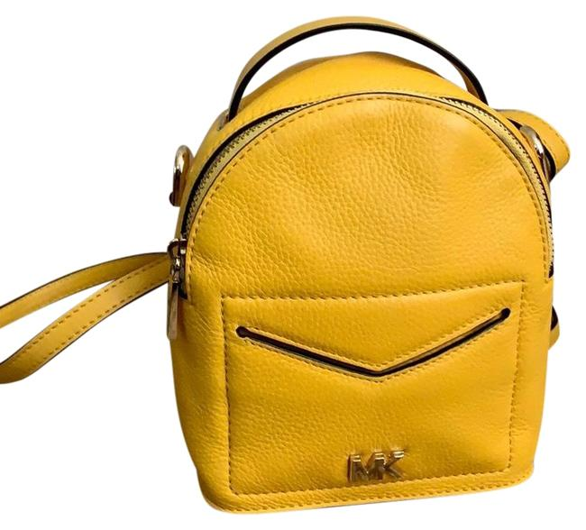 Michael Kors Mini Convertible Yellow Backpack Michael Kors Mini Convertible Yellow Backpack Image 1