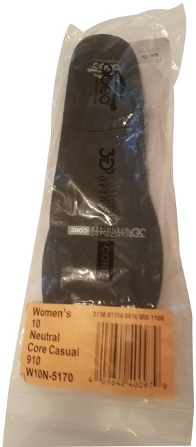 Item - Black 3d3 Core Costumized Orthotic--women's Neutral Size 10 New.