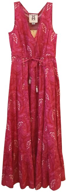 Item - Pink Red White From The Road To Tangier Collection Long Casual Maxi Dress Size 6 (S)