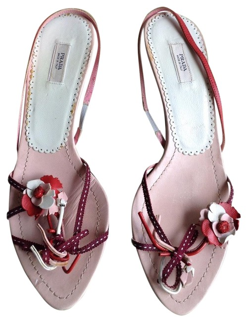 Item - Pink/Red Sandals Nieman Marcus 95th Anniversary Exclusive Pumps Size US 7 Regular (M, B)
