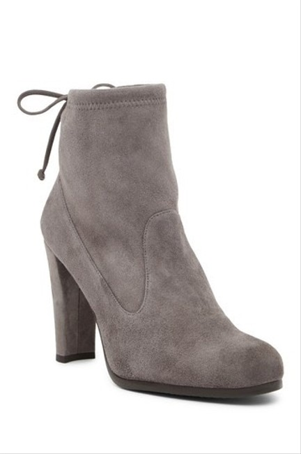 Item - Grey Glove Tie-back Suede Ankle Boots/Booties Size US 8 Regular (M, B)