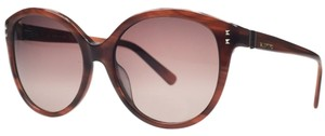 Valentino Valentino Striped Brown Round Sunglasses
