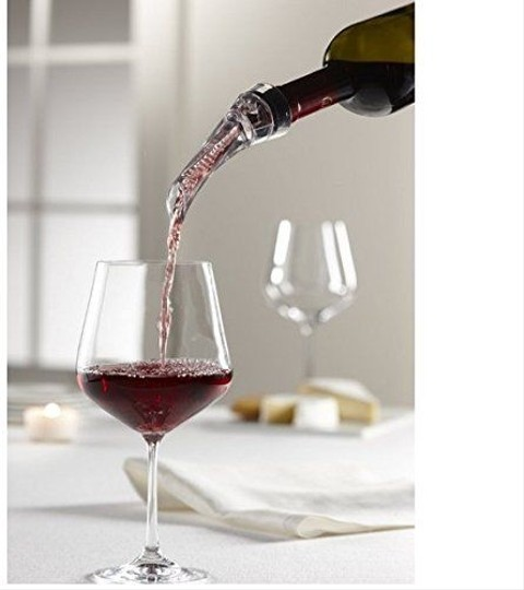 Clear Portable Aerating Pourer Decanter Red Wine Bottle Travel Quick Air Aerator Box Barware
