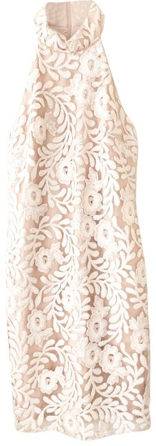 Item - Nude Belle Sequin High Neck Mid-length Formal Dress Size 6 (S)