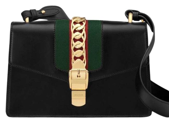 Item - Shoulder Sylvie Small Black Leather Cross Body Bag