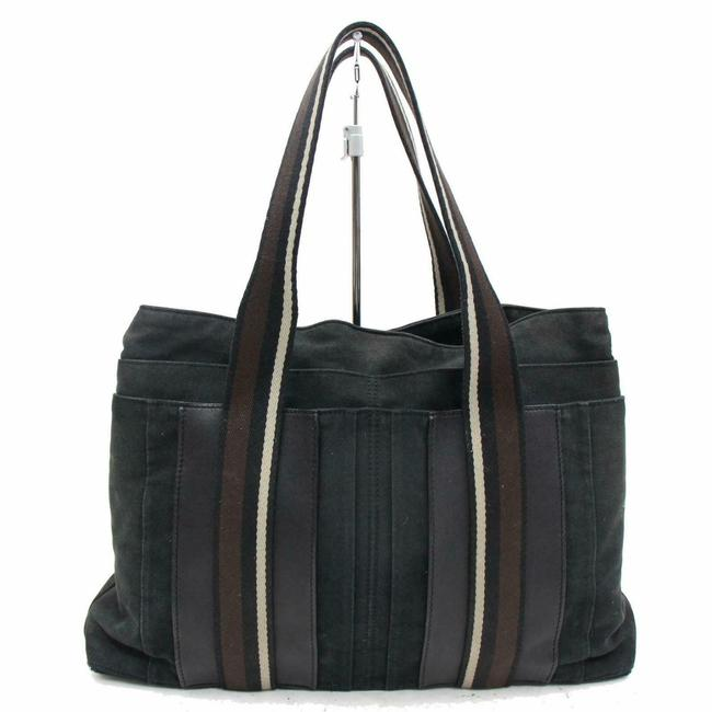 Item - Garden Party Tote 11242 Black Canvas Weekend/Travel Bag