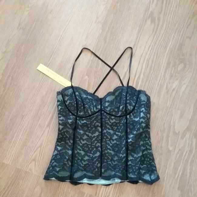 Item - Black and Teal Tank Top/Cami Size 4 (S)