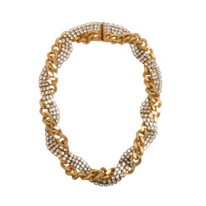 Elizabeth Cole Gold Chain and Crystal