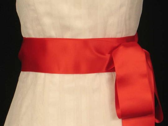 Flame Red Ribbon Sash